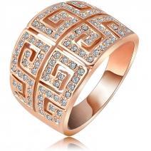 Prsteň Sparkling- Zlatá / 53mm