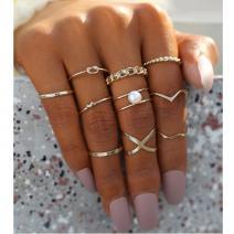 Sada prstienkov Elison-Zlatá