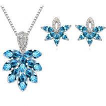 Set Austrian Flowers - Modrá