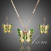 Set Butterfly Green AZORA - Zelená