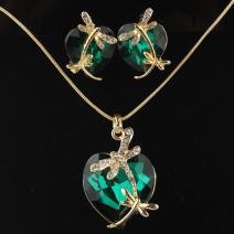 Set Dragonfly Crystal - Zelená