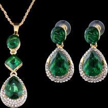 Set Esmeralda-Zlatá/Zelená