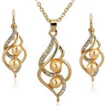 Set Pearl Liana-Zlatá/Žltá