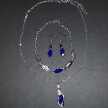 Set Rhinestone-Str./Modrá-2.akosť
