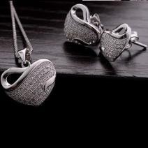 Set Srdiečko Silver - Strieborná