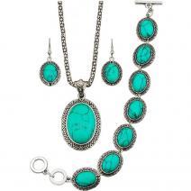 Set Turquoise Antique-Zelená/Typ2