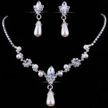 Set Wedding Pearl - Strieborná