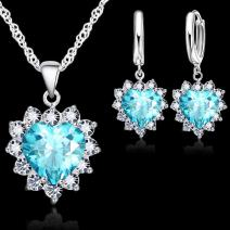 Set Zircon Heart-Sl.Modrá
