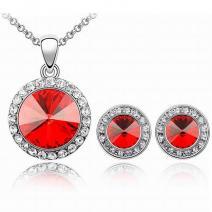 Set šperkov Blaze - Červená