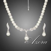 Set šperkov Pearl AZORA  - Strieborná