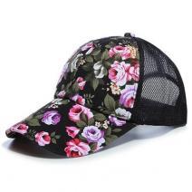 Šiltovka Kvety-Čierna