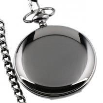 Vreckové Hodinky Gloss-Čierna