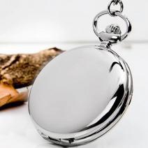 Vreckové Hodinky Gloss-Strieborná
