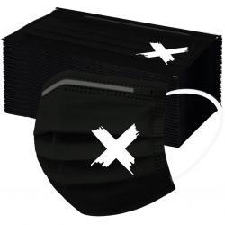 1x Hygienické jednorázové Rúško-Biele X