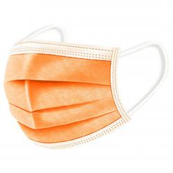 1x Hygienické jednorázové Rúško-Oranžová