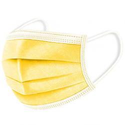 1x Hygienické jednorázové Rúško-Slabo Žltá