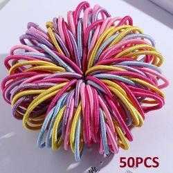 50x Detské gumičky do vlasov-Multi3