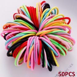 50x Detské gumičky do vlasov-Multi4