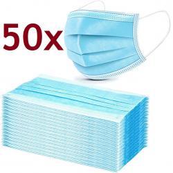 50x Hygienické jednorázové Rúško-Modrá
