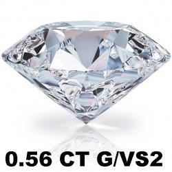 Briliant 0.56 CT G/VS2 + EGL