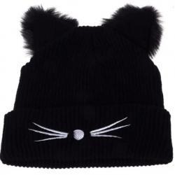 Čiapka Cat-Čierna