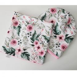 Čiapka a Nákrčník Flowers-Multi/50