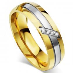 Dámsky Prsteň Fidelity-Zlatá/57mm