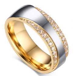 Dámsky Prsteň Promise-Zlatá/Str./59mm