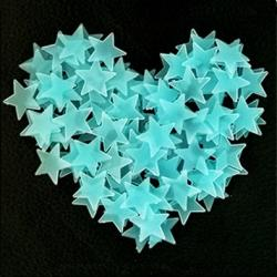 Fosforeskujúce Hviezdičky na stenu-Typ2-Modrá