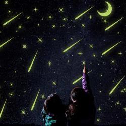 Fosforeskujúce samolepky-Padajúce hviezdy