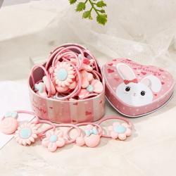 Gumičky s boxom Flowers-Ružová