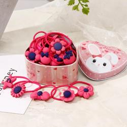 Gumičky s boxom Flowers-Tm.Ružová