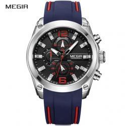 Hodinky MEGIR-Modrá/Červená