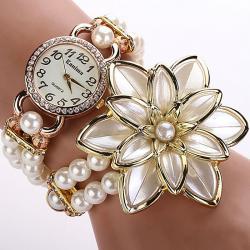 Hodinky Pearl Bloom- Biela