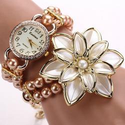 Hodinky Pearl Bloom- Ružová