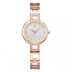 Hodinky SHENGKE Luxury-Zlatá/Ružová