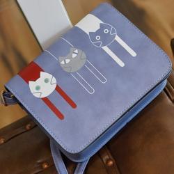 Kabelka Mačičky-Modra