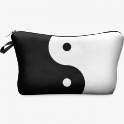 Kozmetická Taška Shannon-Biela/Čierna
