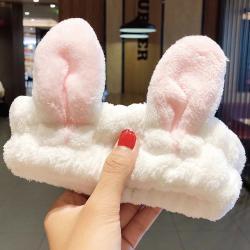 Kozmetická čelenka Rabbit-Biela