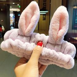 Kozmetická čelenka Rabbit-Fialová