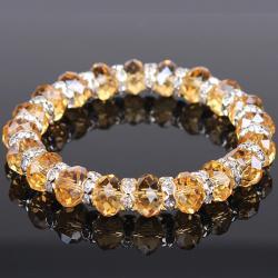 Kryštálový náramok - Zlatá