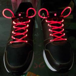LED šnúrky do topánok - Červená