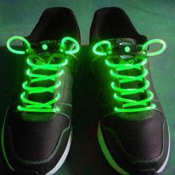 LED šnúrky do topánok - Zelená