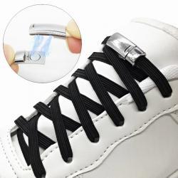 Magnetické šnúrky do topánok-Čierna