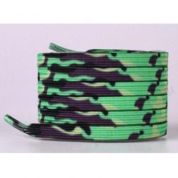 Magnetické šnúrky do topánok-Maskáčová/Zelená