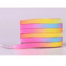 Magnetické šnúrky do topánok-Ružová/Žltá