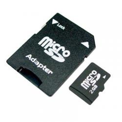 Micro SD 2GB + SD Adaptér