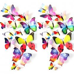 Motýle na stenu 12ks - Multi
