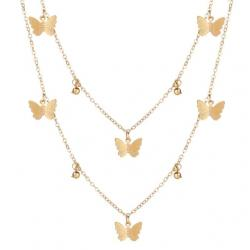 Náhrdelník Butterfly-Zlatá/Typ1