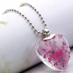 Náhrdelník Crystal Heart-Ružová